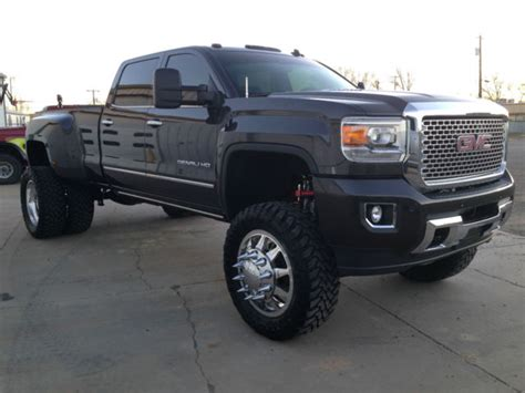 lifted gmc dually 2015 gmc 3500 denali hd dually duramax lifted