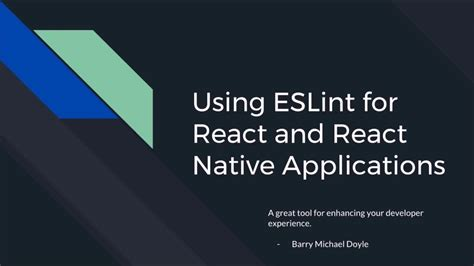 react native tutorial youtube installing eslint for react and react native development