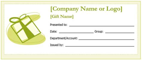 create a gift certificate with these free microsoft word