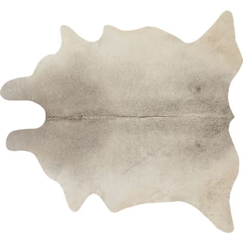 How To Place A Cowhide Rug Cowhide Rug 5 X8 Cb2