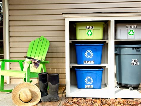 how to build an outdoor recycling center hgtv