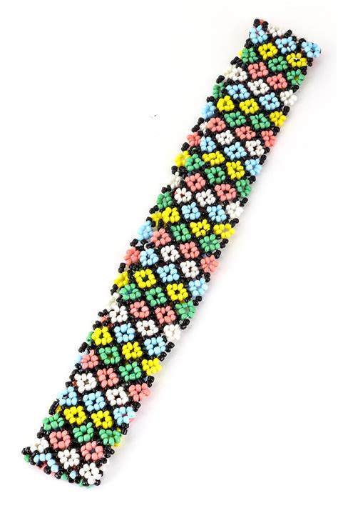beaded headband patterns flower pattern seed bead headband hair accessories