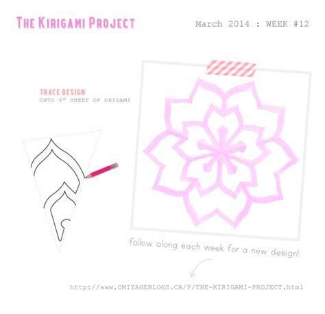 omiyage blogs the kirigami project week 12 double sakura