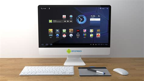 android pc white android computer monitor turned on 183 free stock photo