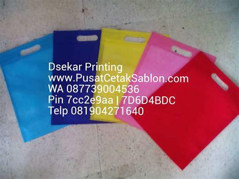 grosir tas kain spunbond di malang pusat cetak sablon