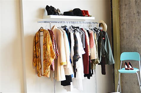 mr kate garment rack and floating shelf closet wall