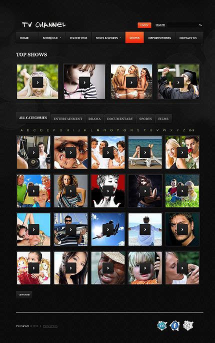 Tv Channel Website Template 37505 Tv Channel Website Templates Free
