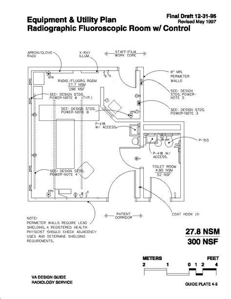 Floor Plan Of A Room Radiographic Fluoroscopic Room W Control