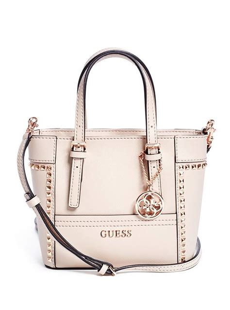delaney studded mini tote guess