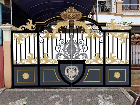 gaya bentuk pagar rumah klasik modern yg  baik