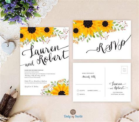 Sunflower Wedding Invitations by Sunflower Wedding Invitations By Onlybyinvite Wedding