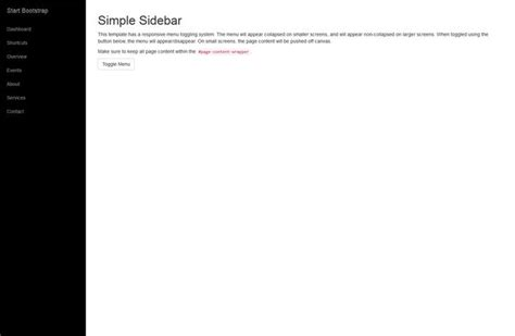bootstrap templates for practice a simple sidebar template for bootstrap 3 featuring