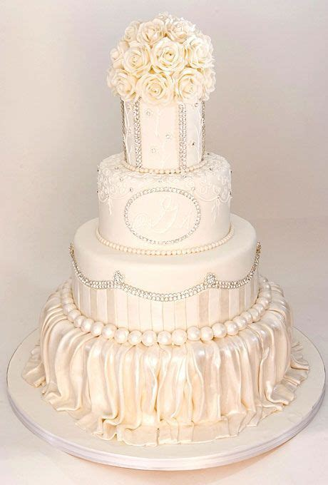 Cake Boss White Romantic Flowers Cake   Hello, I love you