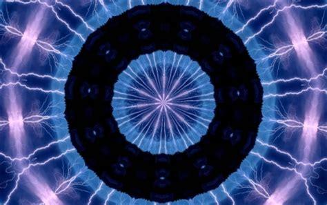 blue kaleidoscope wallpaper blue black electric kaleidoscope 3d and cg abstract