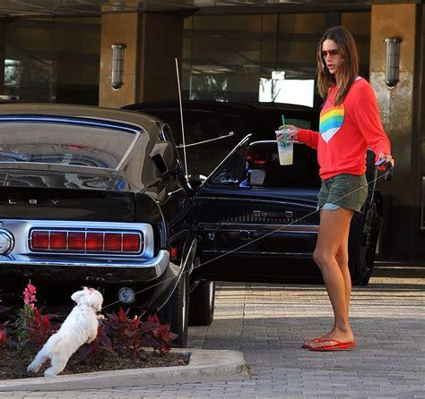 Alessandra Ambrosio Cleans Car by Alessandra Ambrosio In Santa 2 Zimbio