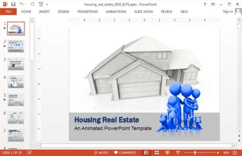 Animated Building A House Powerpoint Template Powerpoint Real Estate Templates
