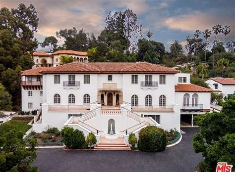 mansion home 10 000 square foot spanish colonial revival mansion in los