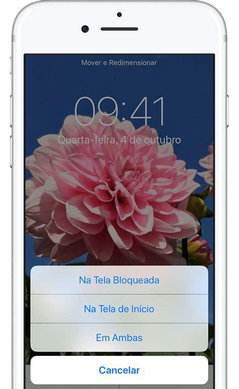 alterar  imagem de fundo  iphone suporte da apple