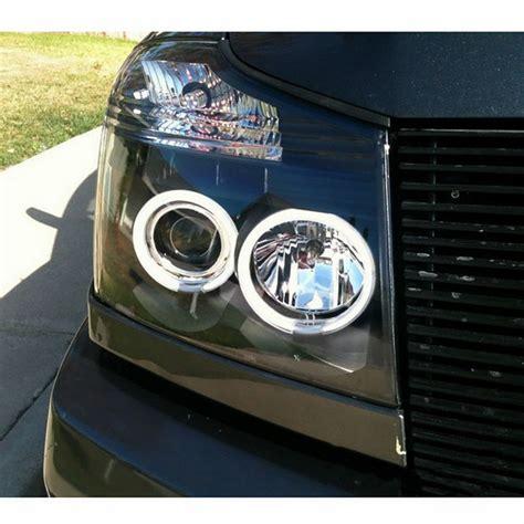 nissan titan black ccfl halo led projector headlights