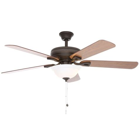 rubbed bronze ceiling fan with light hton bay rothley 52 in indoor rubbed bronze