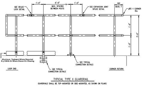 Key Clamp Handrails Standard Handrail Drawings