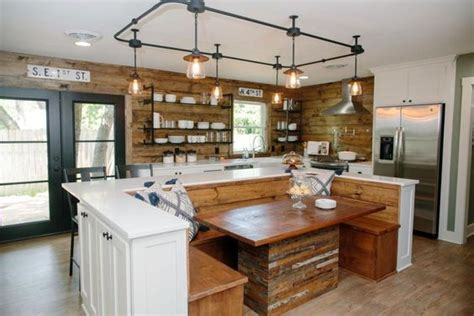Kitchen Island Decorating by Fixer Upper Mid Century Lighting The Harper House