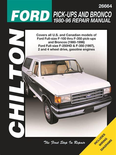 how to download repair manuals 1996 ford f series free book repair manuals ford f 100 f 150 f 250 f 350 bronco service manual 1980 1996