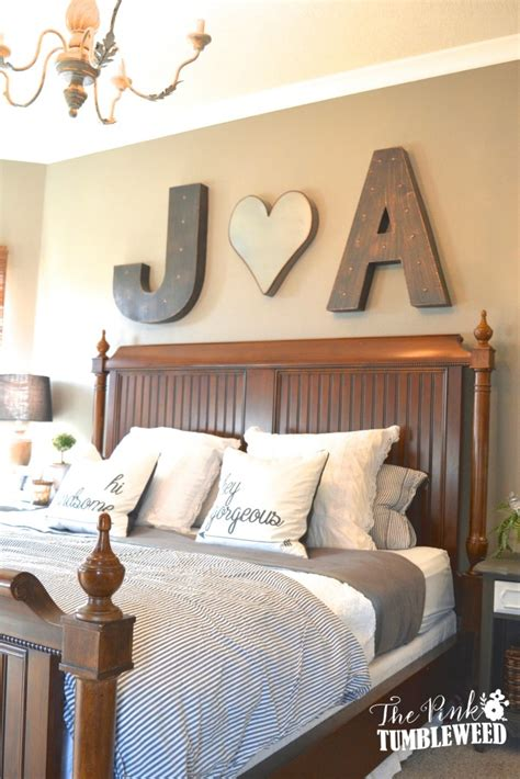 master bedroom wall decor ideas home tour the pink tumbleweed