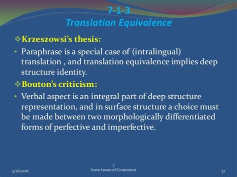 thesis translation criticism some issues of contention in contrastive analysis