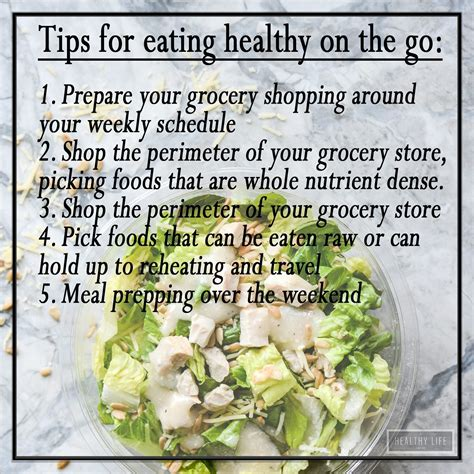 Tips For Healthy On The Go by Tips For On The Go A Healthy For Me