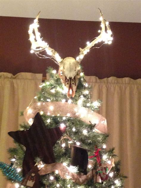 deer antler christmas tree topper google search tree