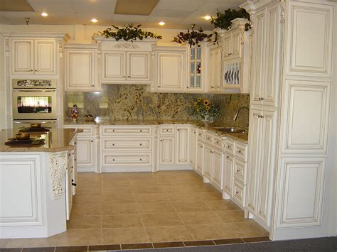 Kitchen Antique White Cabinets Simple Kitchen Design With Fancy Marble Tiles Backsplash Also Paired With Antique White Kitchen