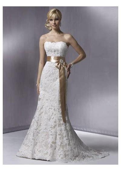 strapless wedding gown with lacewedwebtalks wedwebtalks