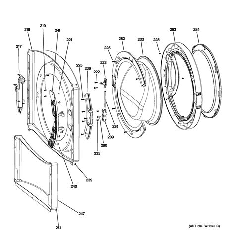 ge washer parts diagram i a ge front load washer model wbvh6240hww serial