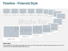 free timeline template powerpoint timeline polaroid style editable vector graphics