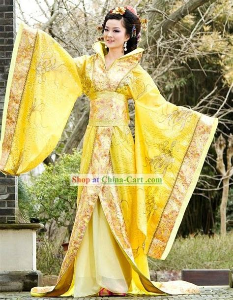 Dress Terusan Set Lindsay Du ancient golden empress costume complete set of ancient costume