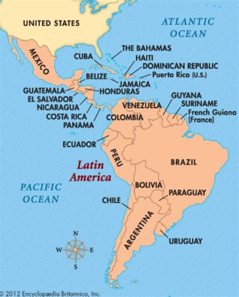 latin america map capitals map of latin america and their capitals