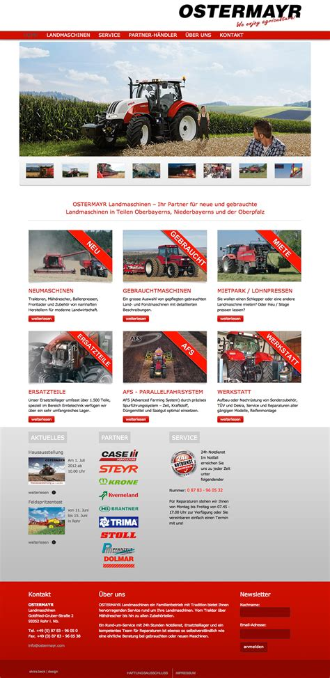 re layout landmaschinen handel ostermayr elvira beck design