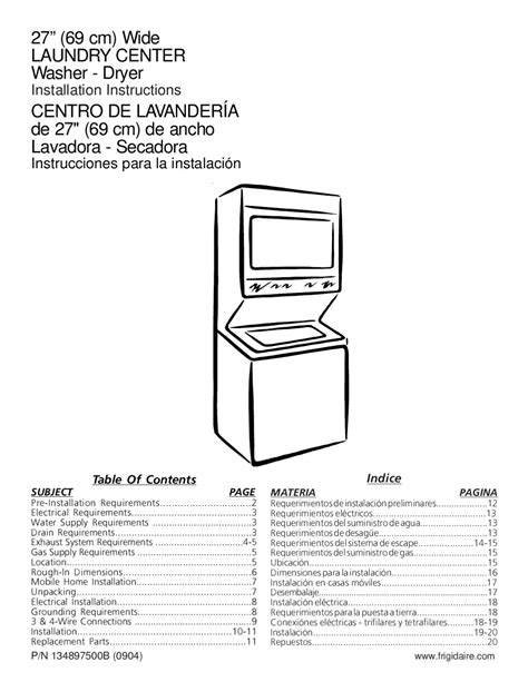 the location of the water table is subject to change instrucciones instalacion centro de lavado vertical 14 kgs