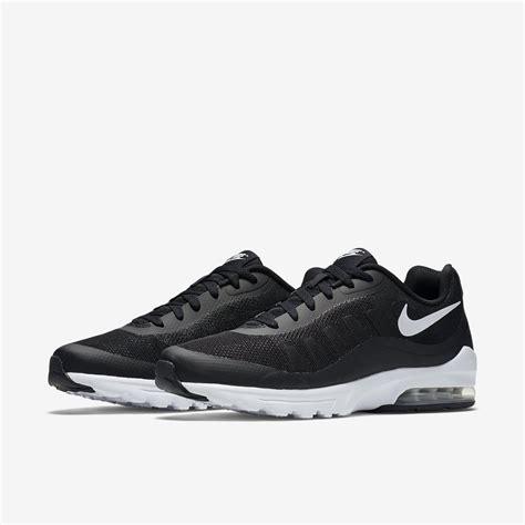 black nike air max running shoes nike mens air max invigor running shoes black white