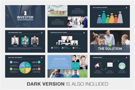 free pitch deck template investor pitch deck powerpoint template on behance