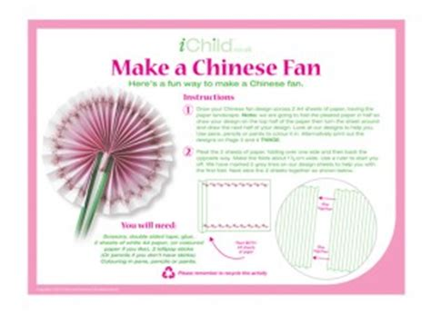 How To Make A Japanese Fan Out Of Paper - make a fan craft ichild
