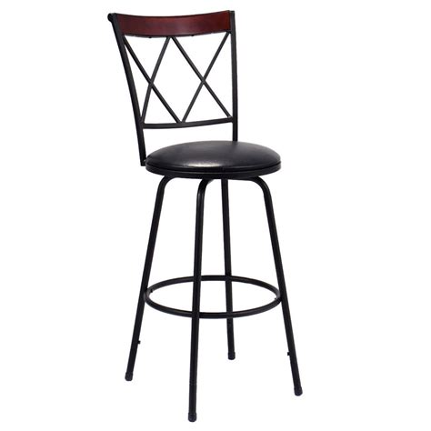 Leather Bistro Chairs Swivel Bar Stool Pu Leather Steel Counter Height Modern Bistro Pub Chair New Ebay