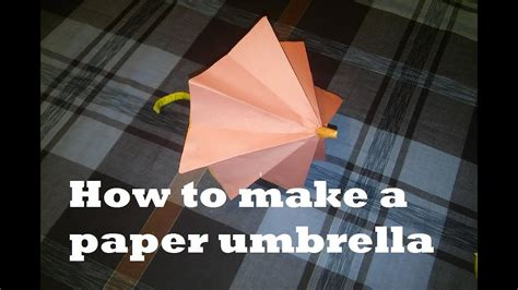 How To Make A Paper Umbrella For - how to make a paper umbrella origami umbrella that