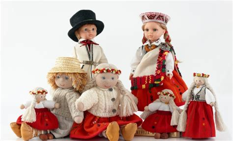 Handmade In Costume - wonderful souvenir from latvia handmade dolls in ethnic