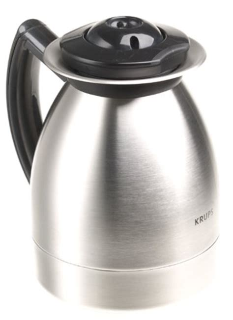 Krups 229 4G Aroma Control 10 Cup Coffeemaker with Thermal Carafe, Black and Brushed Stainless
