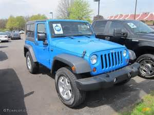 Bright Blue Jeep Wrangler 2011 Cosmos Blue Jeep Wrangler Sport 4x4 64404314