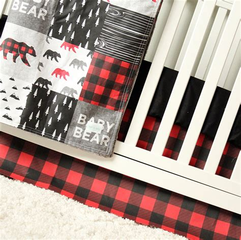 plaid crib bedding plaid baby bedding woodland baby bedding fitted crib sheet changing pad cover crib
