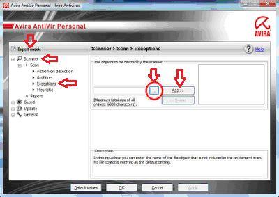 membuat file virus cara membuat file exception pengecualian apabila