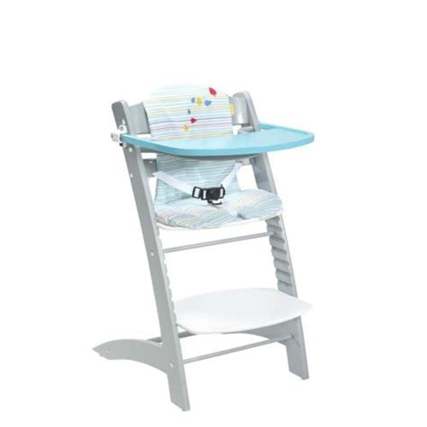 badabulle chaise haute badabulle chaise haute 233 volutive bleu et gris pas cher